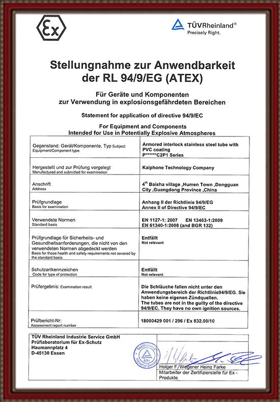 ATEX Certification