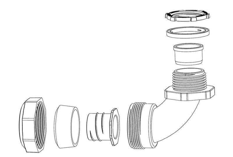 liquid tight flexible metal conduit fitting