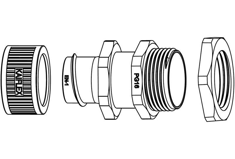 Flexible Metal Conduit Fitting Low Fire Hazard - EZ05 Series(EU)