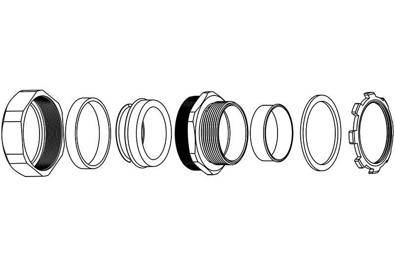 Flexible Metal Conduit Fitting Water + EMI Proof Solution - BGS50 Series(EU)