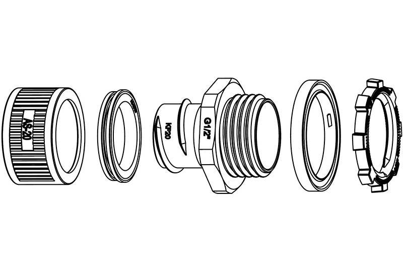 Flexible Metal Conduit Fitting Water Proof-AZ09 Series