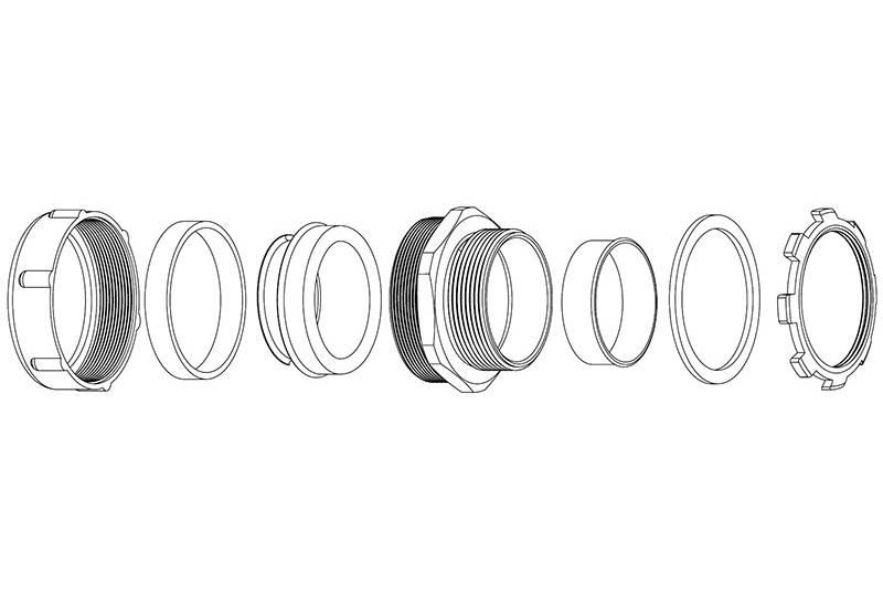 Flexible Metal Conduit Fitting - XS50 Series(EU)