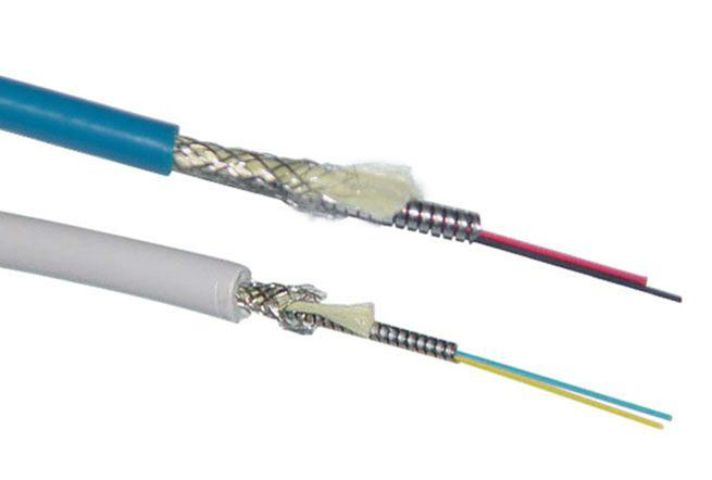 Duplex Armored Optical Fiber Cable-Round Type