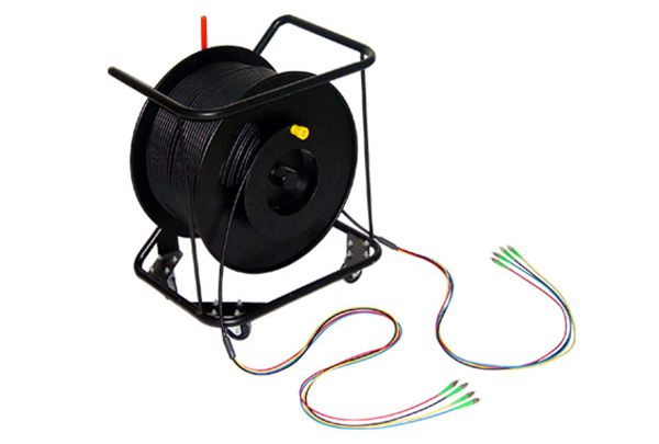 Multi-Fibers Armored Optical Fiber Patchcord With Trolley For Test