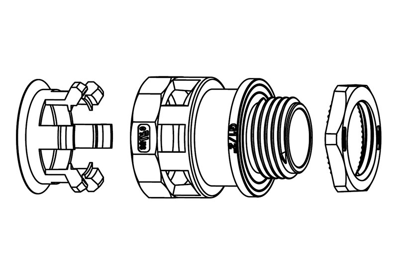 Liquid Tight Nylon Fitting (UL 1696)-FN01 Series
