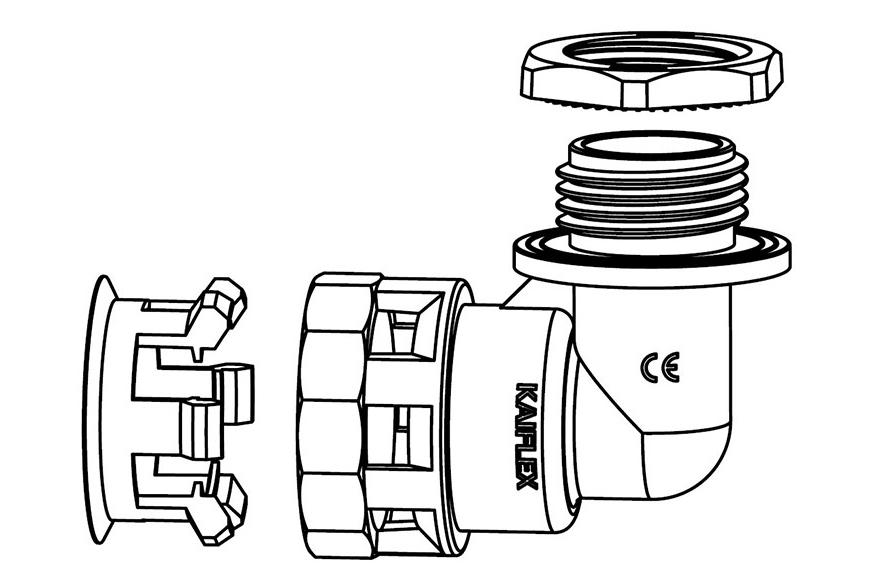 Liquid Tight Nylon Fitting (UL 1696)-FN03 Series