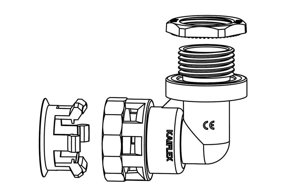 Liquid Tight Nylon Fitting (UL 1696)-FN04 Series