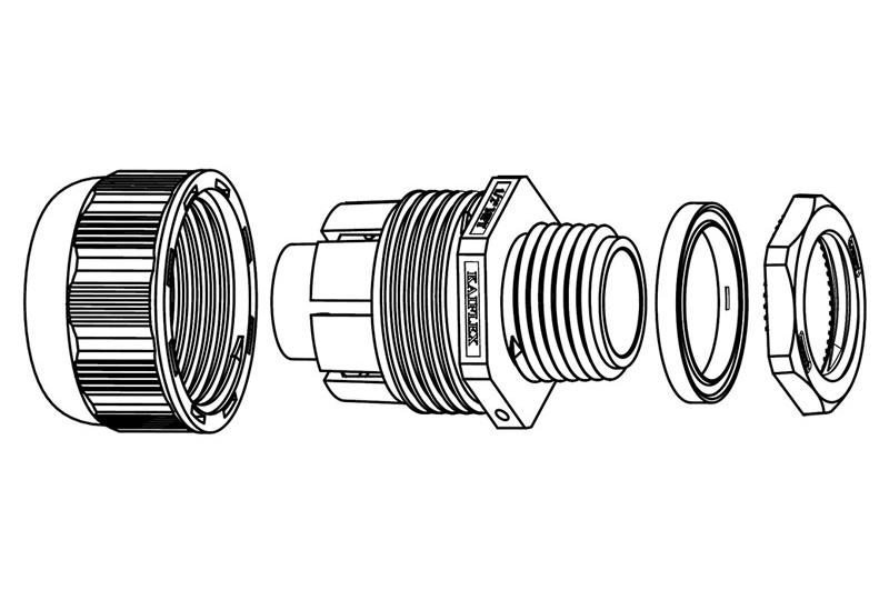 Liquid Tight Nylon Fitting (UL 1696)-FN60 Series