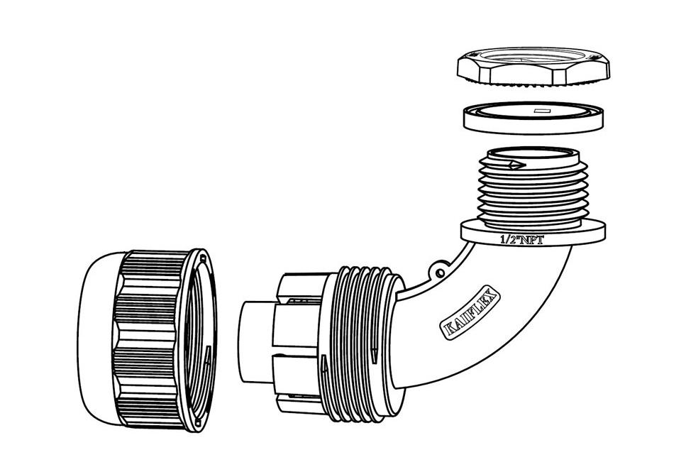 Liquid Tight Nylon Fitting (UL 1696)-FN63 Series